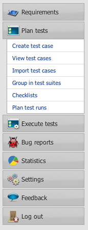 plan tests tab