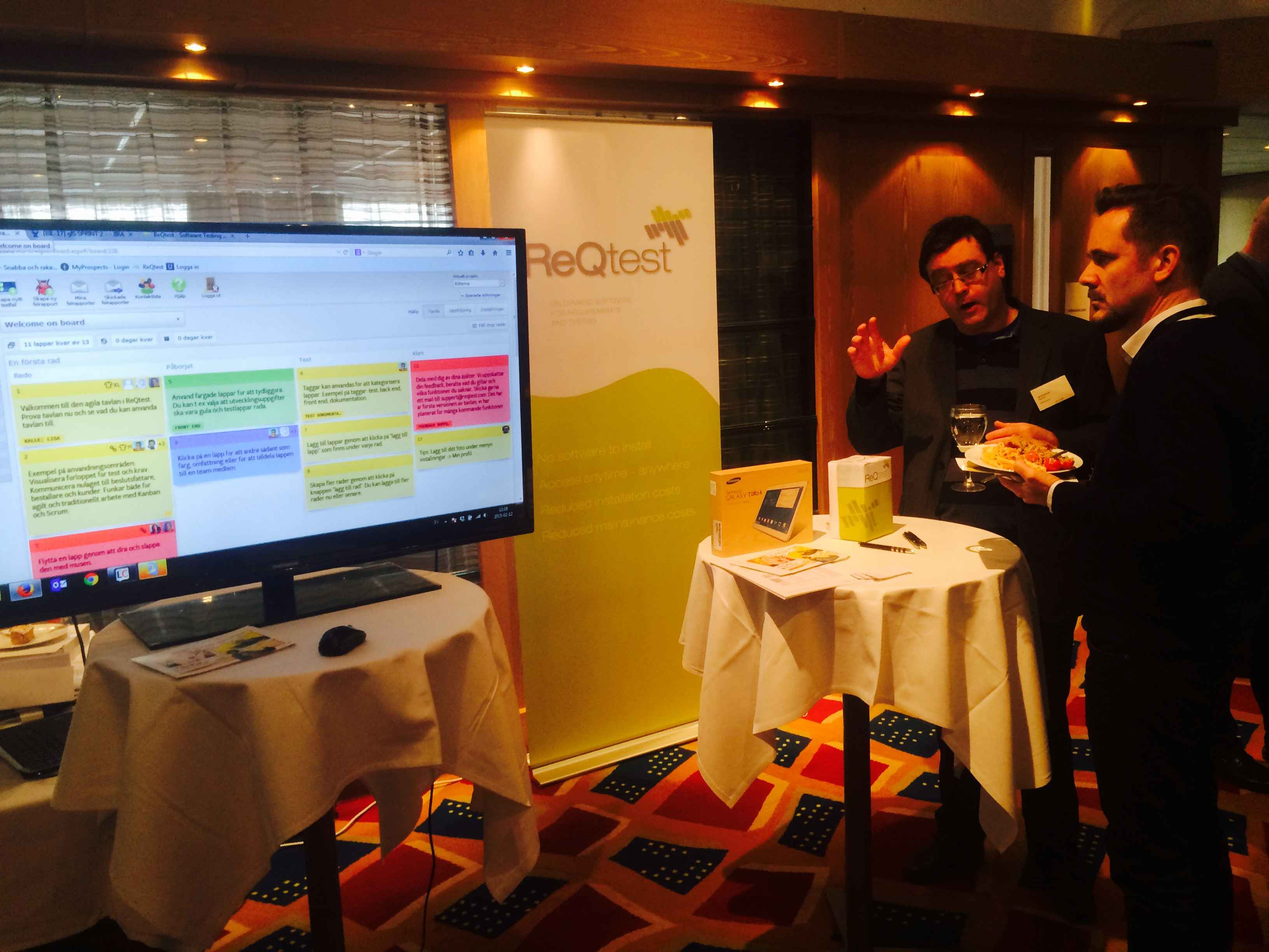 Ulf Eriksson demoing the ReQtest Agile Board at Software 2015 in Oslo