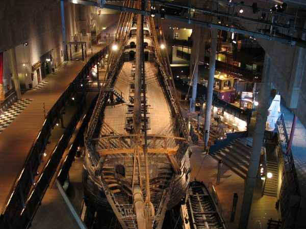 The ship in the main hall of the Vasa Museum.