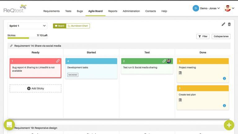 Visually attractive Agile board