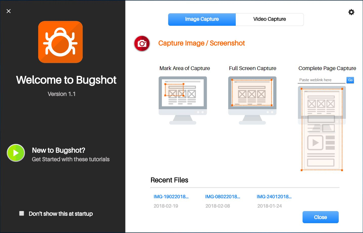visual bug reporting with Bugshot