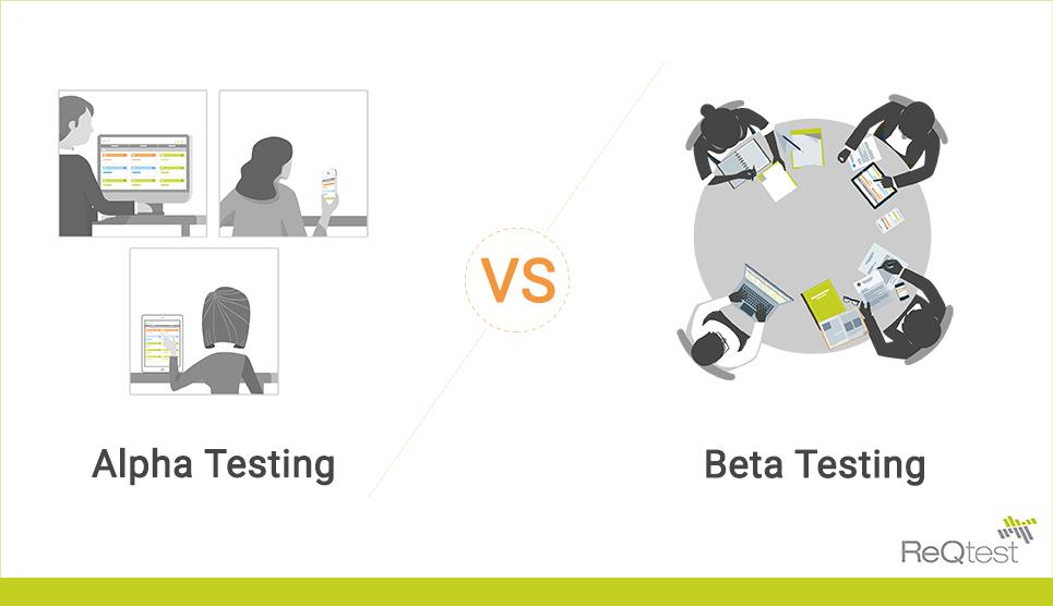 Alpha vs beta testing