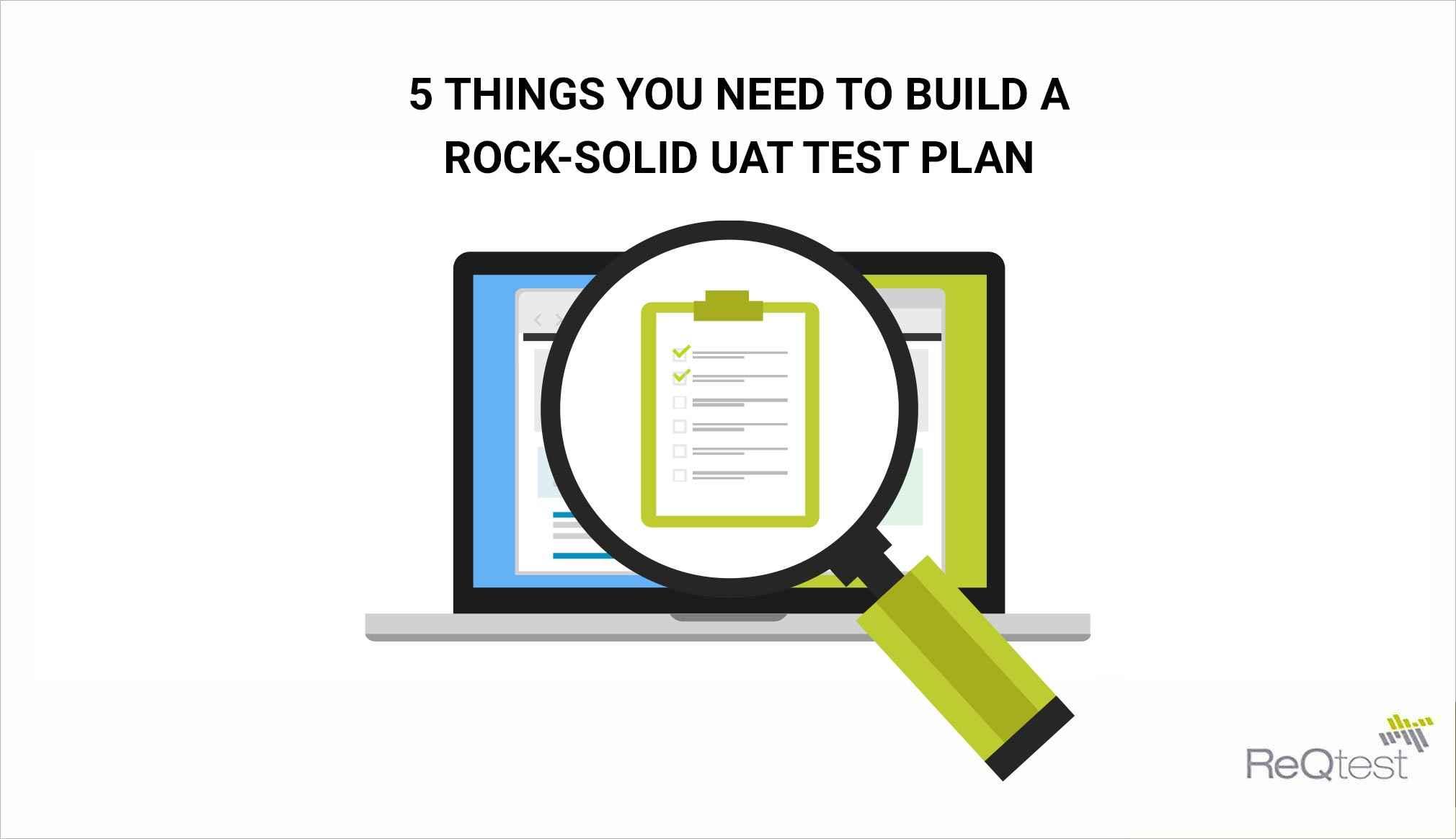 UAT test plan